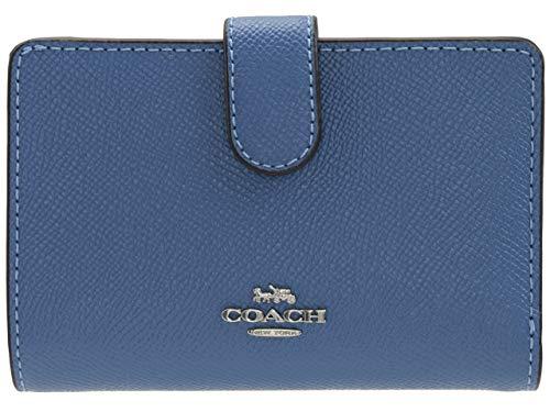 d640186d8d51 [コーチ] COACH 財布 二つ折り レザー MEDIUM CORNER ZIP WALLET アウトレット ブランド [並行
