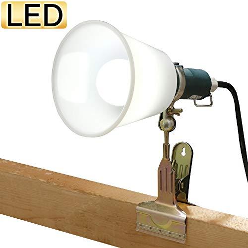 LEDクリップライト おしゃれ 屋外 作業灯 スポットライト 照明 読書 ベッド アーム 防滴型 60形相当 ILW-85GBC2(567379) アイリスオーヤマ
