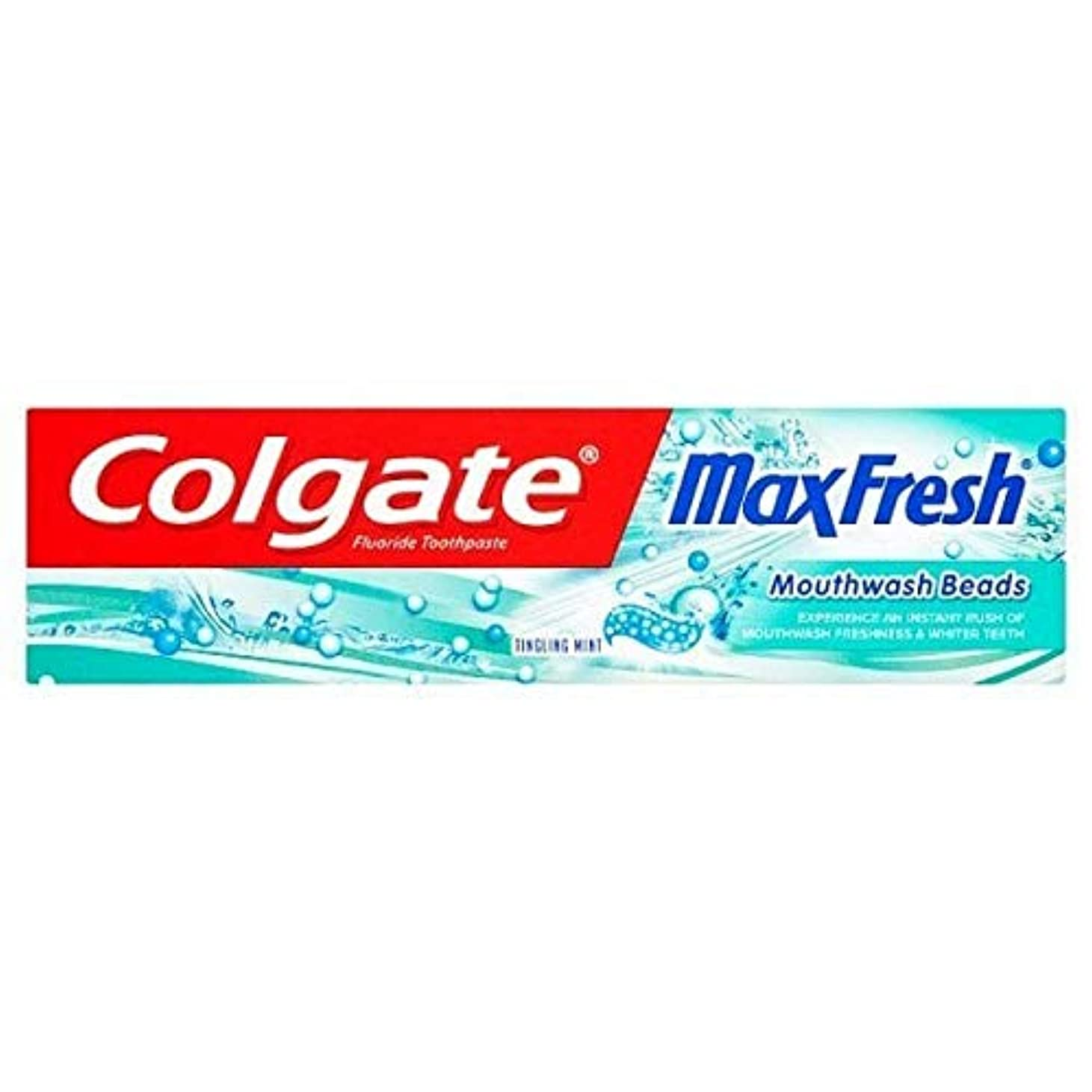 王室注入するオーバーラン[Colgate ] コルゲート最大の新鮮なビーズの歯磨き粉75ミリリットル - Colgate Max Fresh Beads Toothpaste 75ml [並行輸入品]