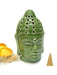 仏陀の お香たて 香炉 コーン用 緑 インセンスホルダー コーン用 お香立て お香たて アジアン雑貨 バリ雑貨