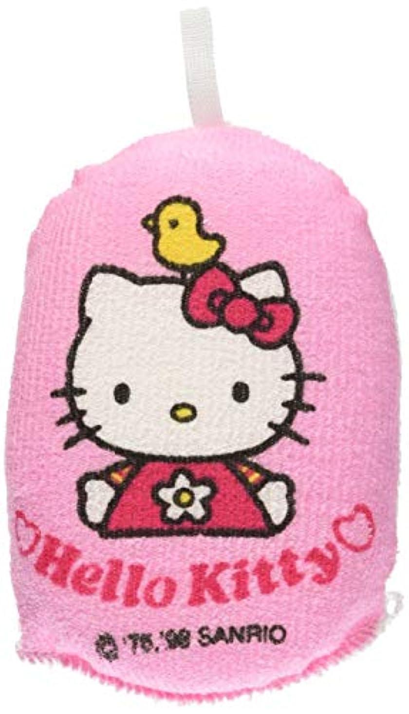 子供っぽい上がる階段オーエ ボディスポンジ ピンク 約縦11.5×横8×奥行4cm ハローキティ こども用 ひよこ ソフトに洗える