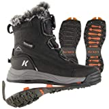 Korkers レディース Snowmageddon 防水冬用ブーツ SnowTrac & IceTrac ソール