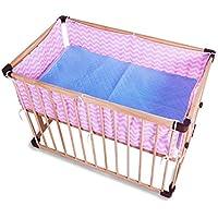 通気性メッシュ ベッドレール, 反衝突 洗える ベッドガード 赤ちゃんを防ぎます 差出人 立ち往生 で ベビーベッド スラット-ピンク