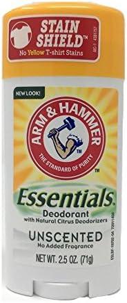 Arm & Hammer Essentials Natural Deodorant Unscented, 2.5