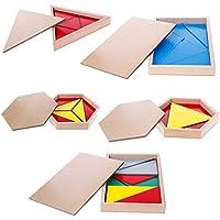 yuuups モンテッソーリ 木製 素材 おもちゃ 三角形 長方形 五角形 建設エンジニアリング 男の子 女の子 対象年齢 3 4 5 歳以上 クリエイティブで楽しいキット 子供への最高のギフト