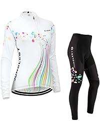 3c131499f784d9 JUNGLEST 5 デザイン 半袖 長袖 選択可 サイクルジャージ 上下セット 3D極厚パッド 女性