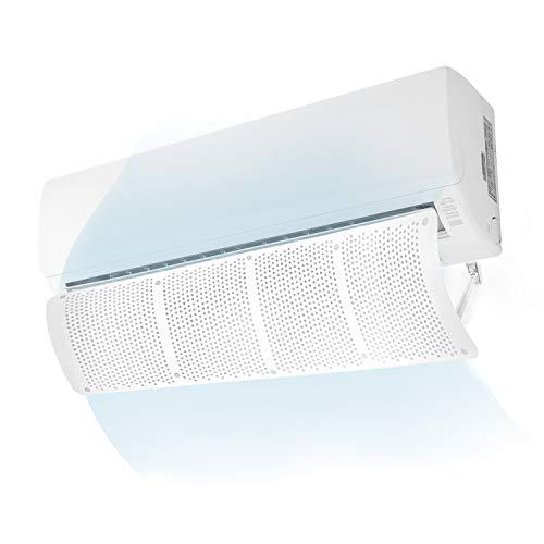ロデシー Rhodesy エアコン風よけカバー エアコン用カバー エアコン用風よけ板 風向き自由調節 可変式風除け羽板 風の直撃防止 冷房暖房通用 壁掛け式 穴あけ不要 取り付け簡単