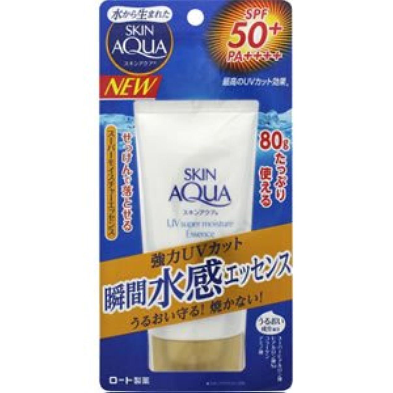 キウイ部族付添人(ロート)スキンアクア スーパーモイスチャエッセンス(SPF50+/PA++++)80g(お買い得3個セット)