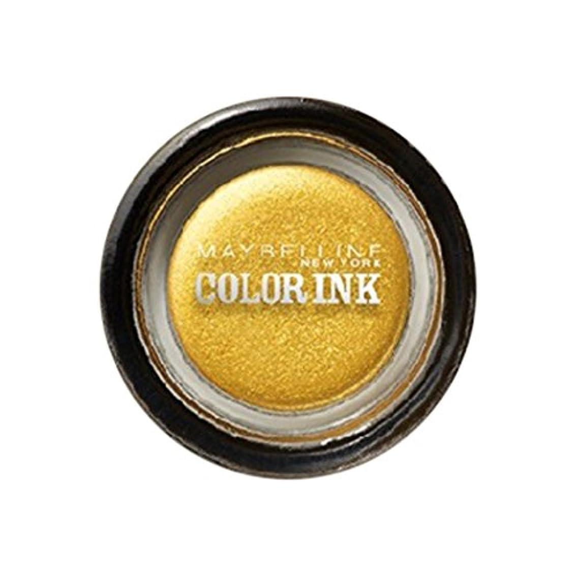着る復活する懸念メイベリン カラーインク シャドウ GD-1 ゴールド