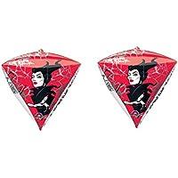 2 Disney Maleficent Diamondz 4両面Mylar Balloons