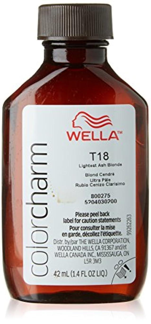 こどもセンターポーチ注釈を付けるWella T18最軽量アッシュブロンド色のチャームトナー