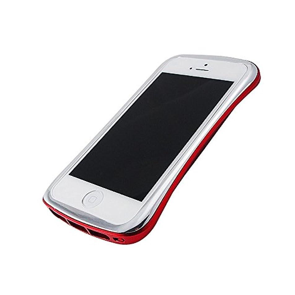 主要な頭蓋骨通信するDRACOdesign Elegance ALUMINUM BUMPER for iPhone5 スターリングシルバー/ラディエントレッド DR50A6-SRD