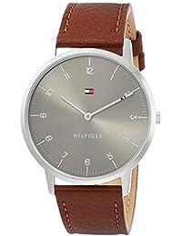 [トミーヒルフィガー]TOMMY HILFIGER 腕時計 COOPER グレー文字盤 ステンレススチール ブラウンレザー 40㎜ 3針 メンズ 1791584 メンズ 【並行輸入品】