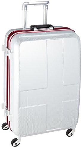 [イノベーター] スーツケース ハードキャリー フレーム 保証付 60L 66cm 4kg INV58 WHITE CARBON ホワイト...