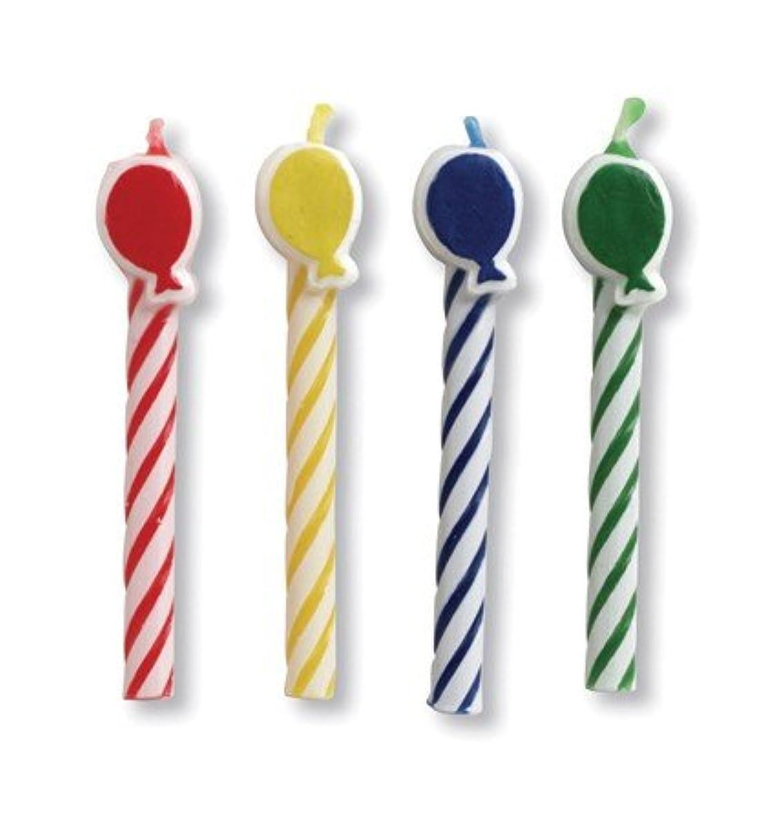 堂々たる満員好きであるクラブパックof 96 Multicoloredバルーン型スパイラル装飾誕生日パーティーキャンドル2