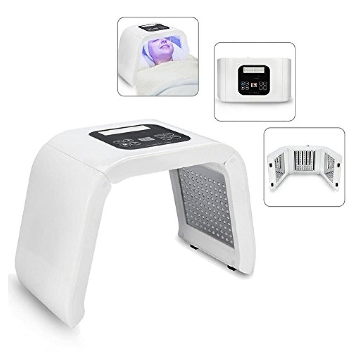 形支援下にLEDフェイスマスク LEDマシン 顔の肌の若返り 美白 色ライトケア 美ランプ 光子の器械 LEDトナーライト