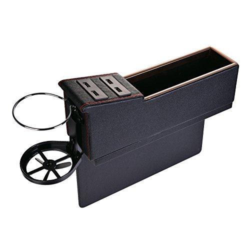 車用収納ボックス 隙間アームレストボックス USB充電ソケッ...