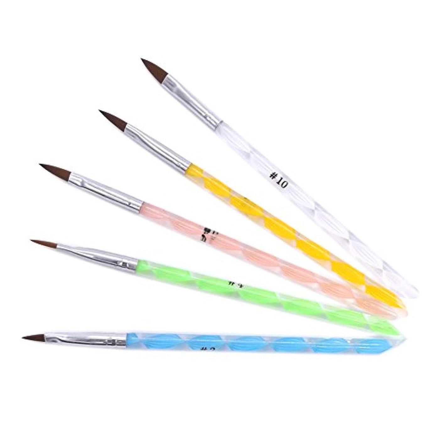 縞模様の電報見る(ウォームガール)Warm Girl ネイルアート アクリル用ブラシ ドットペン 5本セット ネイルデザイン 人気なセット