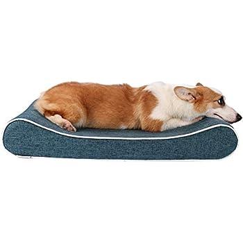 犬 ベッド ペットソファ 高反発ウレタン使用 子犬 老犬 猫 介護用 ベッドマット 肌触りよい 柔らかい 取り外せるカバー 洗える 滑り止め 犬 クッション