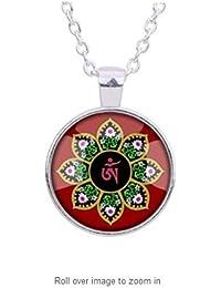 ヨガのネックレス、ハスの花、ロータス、ロータスヨガの宝石、宝石、銀や真鍮のロータスロータスネックレス、ペンダント、シルバーや真鍮のロータス、ロータスフラワーチャーム