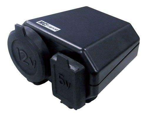 ニューイング(NEWING)  バイク用電源  DCステーション プラス2 シガーソケット+USB端子タイプ  MAX120w+2.1...