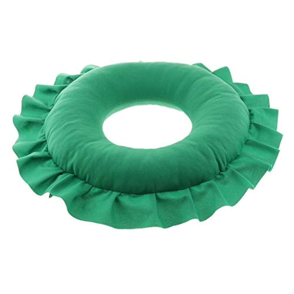 退屈させるデコラティブアーティファクトCUTICATE 全4色 洗えるピロー フェイスピロー 顔枕 マッサージベッド 美容院 ソフト 軽量 快適 - 緑