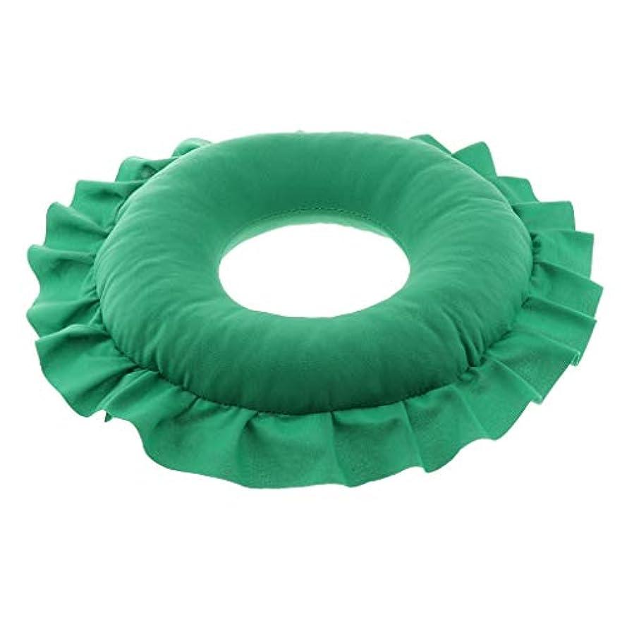 再生ボルトフロントsharprepublic マッサージ枕 顔枕 エステマクラ 首枕 クッション うつ伏せ 顔 額 首 枕 マッサージ 全4色 - 緑