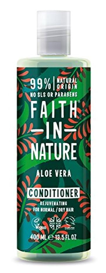 イタリアのしないでください放射するFaith in Nature Organic Aloe Vera Conditioner 400ml