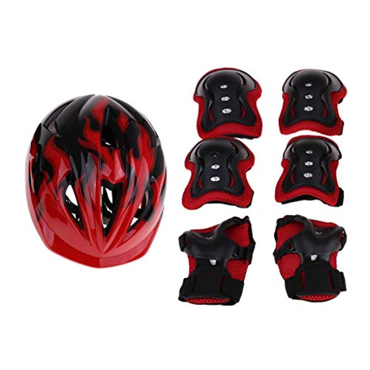 義務ブラウスバーマドFenteer 子供用 ヘルメット 肘/膝/手首プロテクター 保護パッド 自転車 安全 軽量 2サイズ