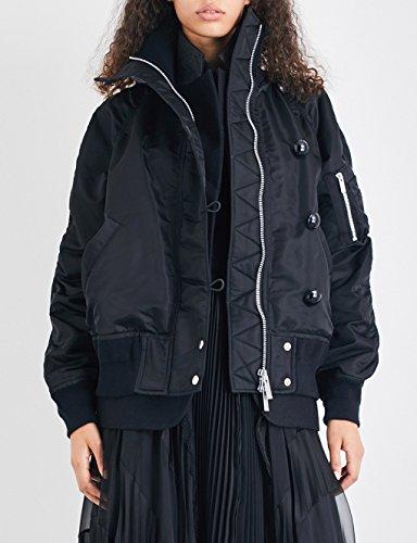 サカイ アウター ジャケット・ブルゾン ruched oversized bomber jacket BLACK 23e [並行輸入品]