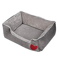 犬 猫 ベッド クッション マット パッド 冬 洗える ふわふわ あったか もこもこ ペットベッド おしゃれ かわいい 猫用 犬用 丸取り外す可 (65X50X20CM)