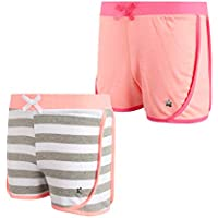 Limited Too Girls Active Shorts - Lightweight French Terry Fleece Fashion Dolphin Shorts (2 Pack)