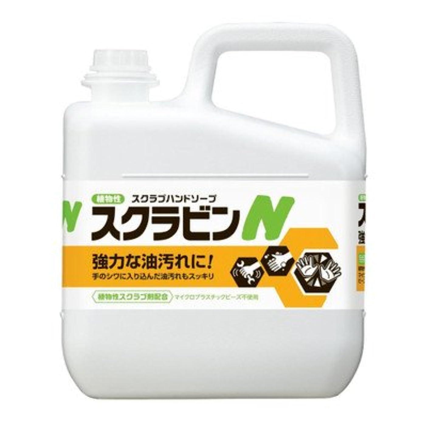 止まる動的輝度環境と手肌に優しく油汚れを落とす植物性スクラブハンドソープ サラヤ 植物性スクラブハンドソープ スクラビンN 5kg 23155
