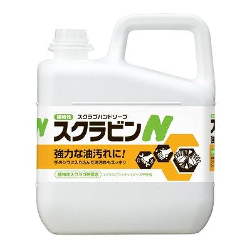 アカデミック統計的間隔環境と手肌に優しく油汚れを落とす植物性スクラブハンドソープ サラヤ 植物性スクラブハンドソープ スクラビンN 5kg 23155