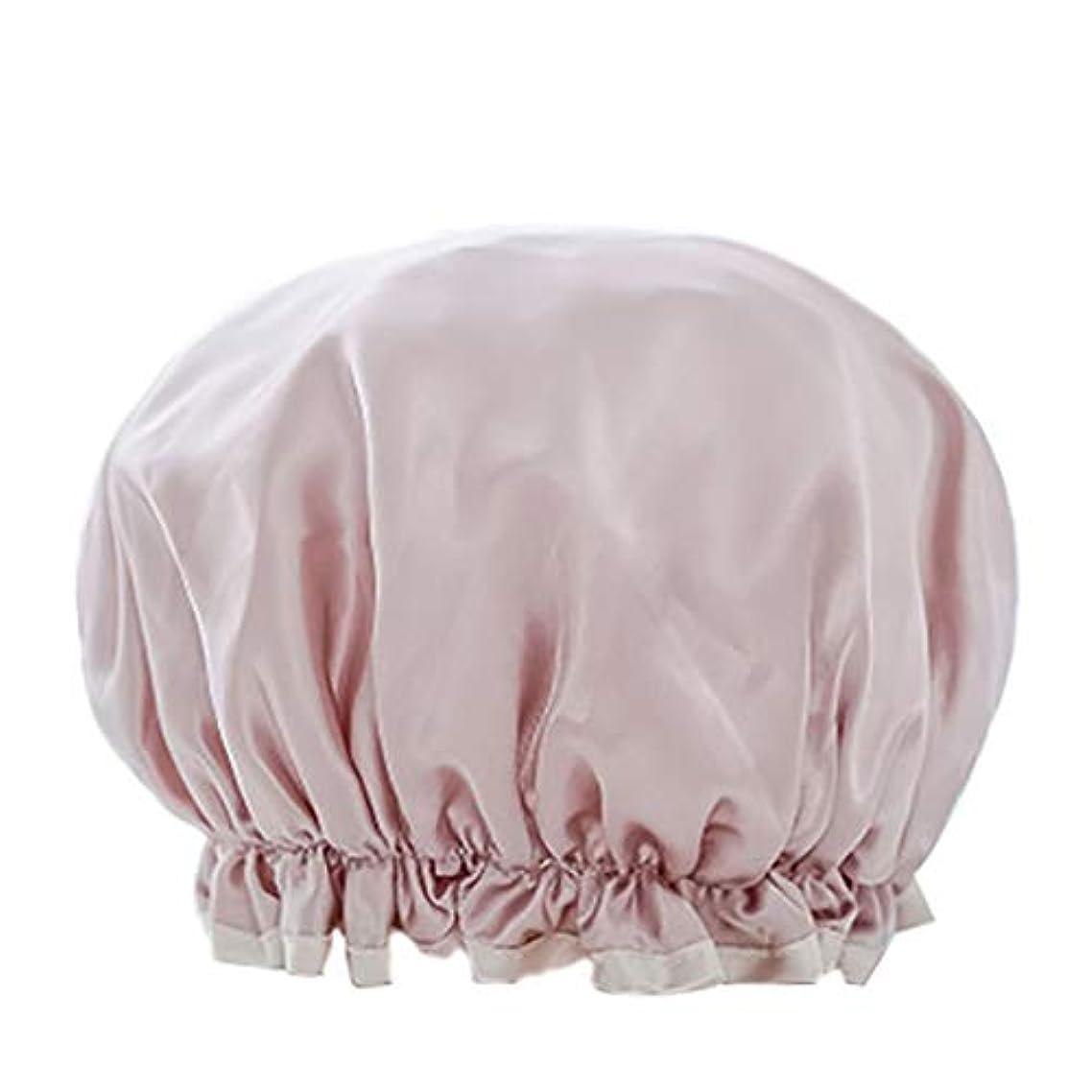 パース吸収モノグラフMaltose 防水シャワーキャップ マイクロファイバー素材 化粧帽 油煙を防ぐ 浴びる 2枚セット