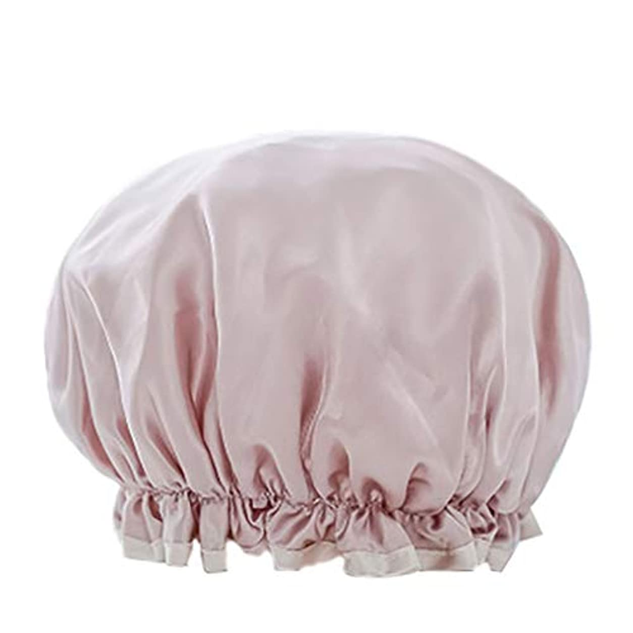硫黄すべきまたはMaltose 防水シャワーキャップ マイクロファイバー素材 化粧帽 油煙を防ぐ 浴びる 2枚セット