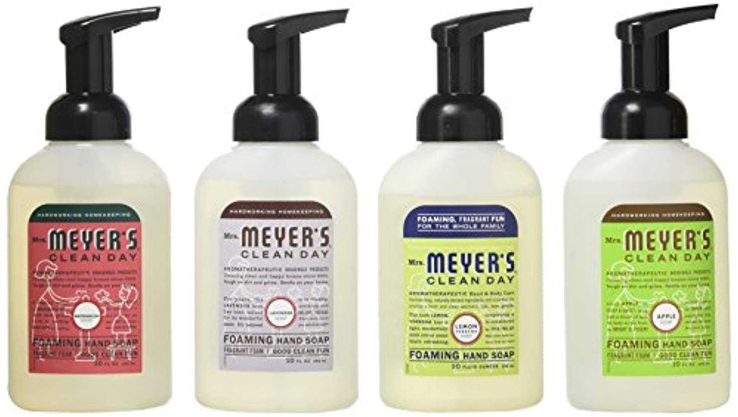 移植オーナー無条件Mrs. Meyers Clean Day 4-Piece Foaming Hand Soap Variety Pack (10 oz Each) by Mrs. Meyers