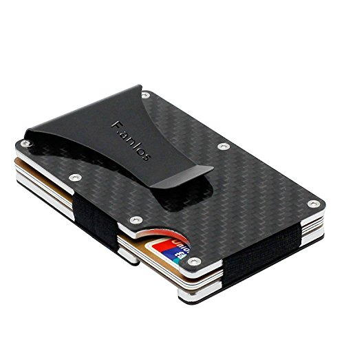 マネークリップ カードケース カーボン製 超軽量で大容量 RFID&磁気スキミング防止 出張などに カードと紙幣収納