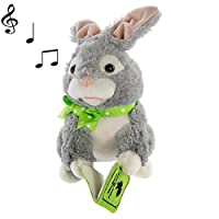 Simply Genius Storytelling Peter Rabbit Plush Toy Talking Moving Animated Stuffed Animal Toy Doll Holiday Christmas Gift D?cor & Decorations [並行輸入品]