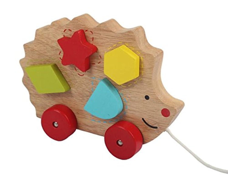 Goodscene クリエイティブ プルアロング おもちゃ 子供 おもちゃ ハリネズミ プルアロング おもちゃ 木製 教育玩具