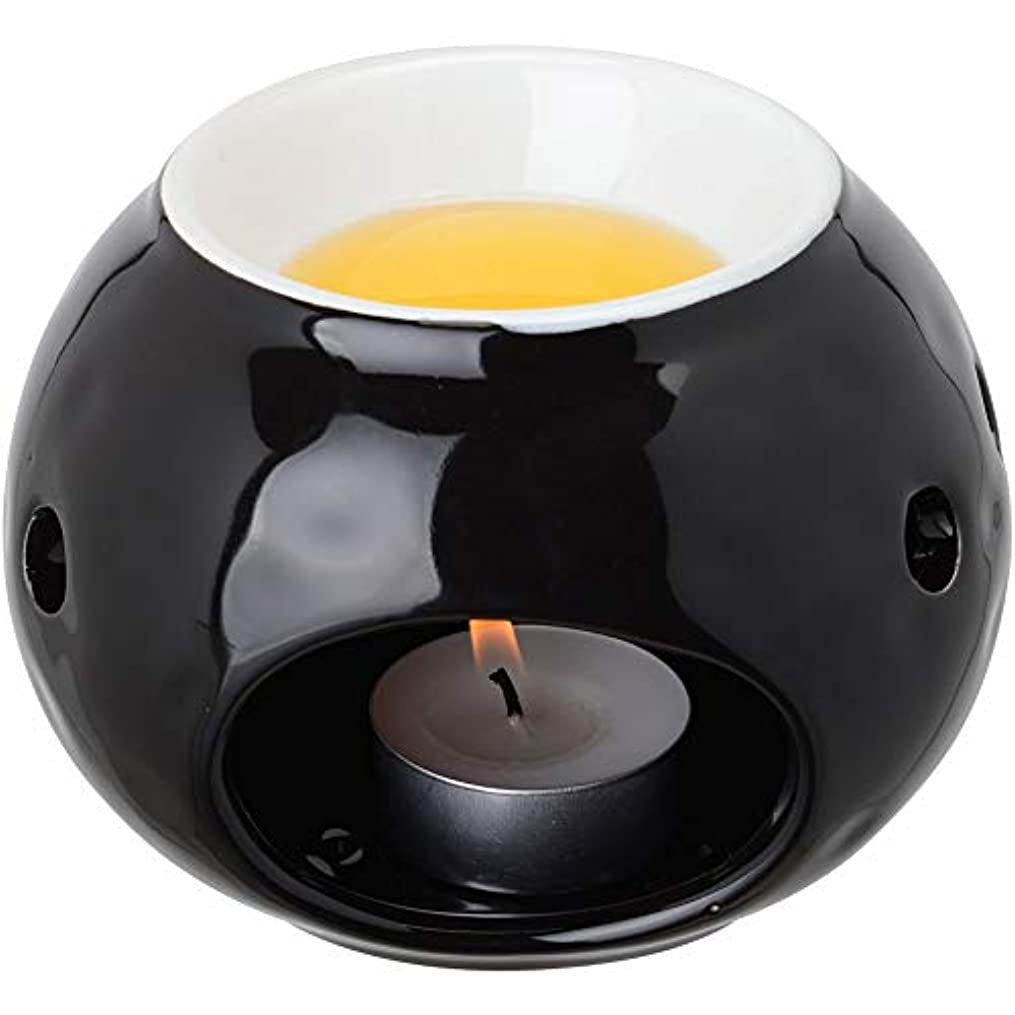 動的春ラメ【LE STUDIO】ラウンド バーナー [ブラック] アロマ 加熱器