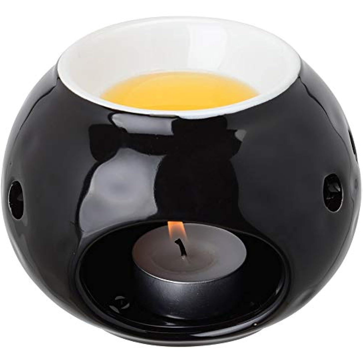 腐食する厚さリス【LE STUDIO】ラウンド バーナー [ブラック] アロマ 加熱器