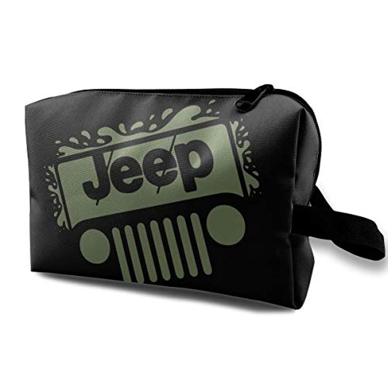 海上アトラス手段Jeep メイクポーチ 化粧ポーチ 機能的 大容量 メイクブラシバッグ 収納バッグ トラベルバッグ メイクブラシ 化粧道具 洗面用具入れ 防水 小物入れ 旅行 出張 耐久性