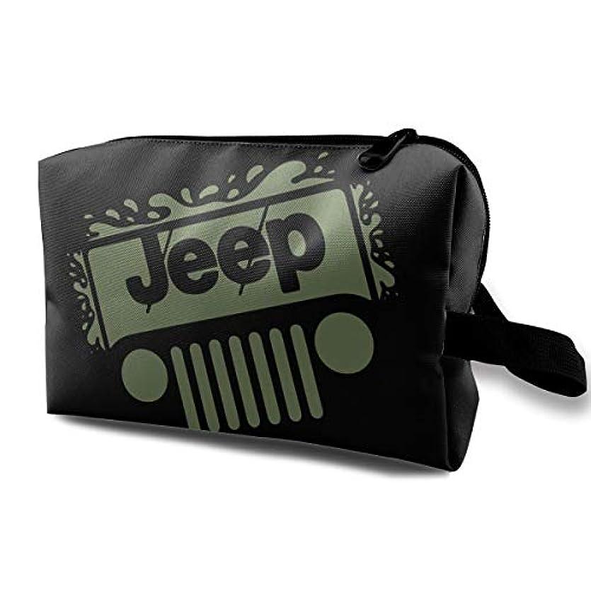 Jeep メイクポーチ 化粧ポーチ 機能的 大容量 メイクブラシバッグ 収納バッグ トラベルバッグ メイクブラシ 化粧道具 洗面用具入れ 防水 小物入れ 旅行 出張 耐久性