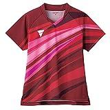 ヴィクタス(VICTAS) 卓球 ゲームシャツ V-OLG236 吸水速乾 レディース レッド(9000) M 512112 【JTTA公認】