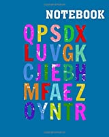 Notebook: queer in the alphabet lbgt pride - 50 sheets, 100 pages - 8 x 10 inches