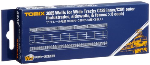 TOMIX Nゲージ 3085 ワイドレール用壁C428内・C391外 (3種×8枚入)