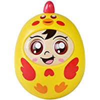wanrane Cute Kids Roly - Poly Toy Cartoon Safe Baby Pram Pushchair Rattle Blinkサウンドタンブラー教育玩具(レッド+イエロー)