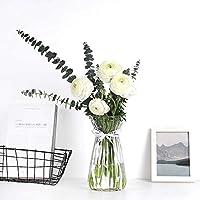 花瓶 ガラス 透明ウエストセクションフラワーアレンジメント水耕花瓶ホームリビングルームの装飾