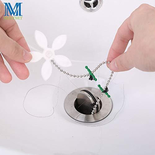 最高品質 排水口クリーナー 花形 バスルームパイプ アンチブ...